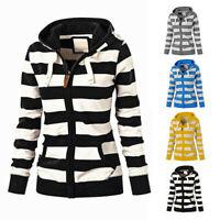 Fashion Women Ladies Hoodie Zipper Sweatshirt Coat Jacket Casual Slim Jumper Top