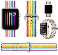 2018 Pride Edition Woven Nylon Band Rainbow Stripe Fo Apple Watch 38mm Aeries1-3