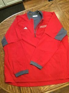 Adidas Red 1/4 Zip Jacket, 3XL