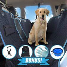 Dog Seat Cover Hammock,Mesh Window,Side Flaps,Seat Belt/Collar,Bowl,Brush,Bag