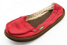 Sanuk Size 8 M Red Round Toe flats Fabric Wmn