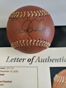 Derek Jeter Autograph Signed Limited Edition COACH Brown Leather Baseball JSA