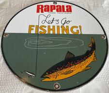 New ListingVintage Rapala Original Minnow Porcelain Sign, Gas, Oil, Johnson, Outboard, Penn