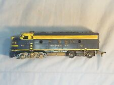 Tyco Blue & Yellow Santa Fe F7A Powered locomotive #4015 (parts or repair)