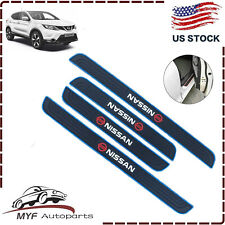 For Nissan 4PCS Black Rubber Car Door Scuff Sill Cover Panel Step Protector