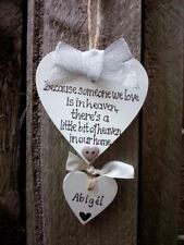 Heaven in our home- handmade, personalised tree ornament, Christmas memorial