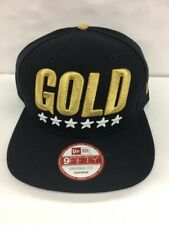 New Era 100% authentic Black/Gold Prototype Sample adjustable Snapback Hat star