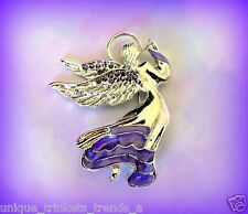 LIGHT PURPLE ANGEL BROOCH PIN~BIRTHDAY GIFT FOR HER WOMEN MOM GIRL BEST FRIEND