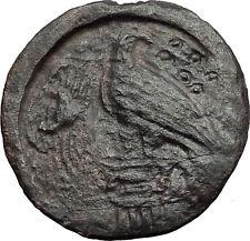 AKRAGAS in SICILY 400BC River God Easgle Crab Hexonkia RARE R1 Greek Coin i58443