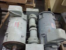 LOT OF 2 GE DC MOTORS W/BLOWERS 40HP W/ GE 5K33FN41 1750/2100rpm 240v