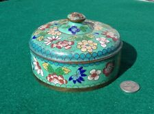 Antique Chinese Cloisonné Lidded Jar Early 20th C.