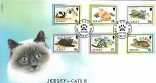 JERSEY 2002 CATS (2ND) SET FIRST DAY COVER