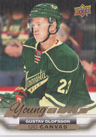 15-16 Upper Deck Gustav Olofsson UD Canvas Young Guns Rookie Minnesota Wild 2015