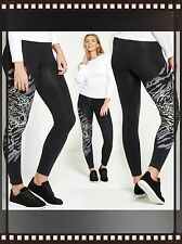 Womens Tiger Print Transfer Black Leggings