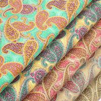 100% Cotton Fabric per FQ Vintage Paisley Retro Floral Dress Quilting Craft VK57
