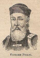 A0152 Vittore Pisani - Stampa Antica del 1907 - Xilografia