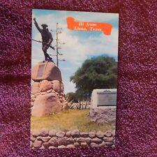 Vintage Postcard Hello From Llano, Texas, World Wars I & Ii Memorial