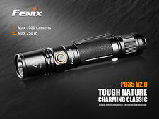 Fenix PD35 V2.0 LED Taschenlampe Flashlight 1000 Lumen Strobe Holster Batterien
