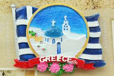 Greece Santorini Tourist Travel Souvenir 3D Resin Fridge Magnet Craft GIFT IDEA