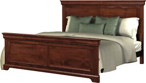 Amish Traditional Solid Wood Panel Bed King Queen Avondale USA