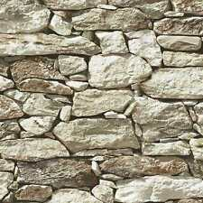 Rock Stone Wallpaper New York Fieldstone Rustic Wall Paper CT40805 MADE IN U.S.A