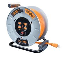 Masterplug Metal 12-Gauge Extension Cord Reel 100' 4 Sockets 15A 12AWG