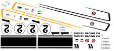 #1 Jerry Titus / #2 H. Kwech 1968 Mustang 1/64th Ho Scale Slot Car Decals