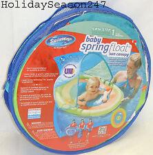 Baby Spring Float W/ Canopy 9-24 Mo Pool Floatation Device Water Training Swim 1