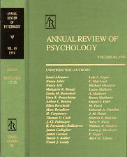 ANNUAL REVIEW OF PSYCHOLOGY VOLUME 45, 1994