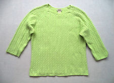 Womens LL BEAN cable knit sweater top Sz M jersey ski snowboard scoop neck NWOT