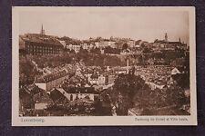 Carte postale ancienne LUXEMBOURG - Faubourg de Grund et Ville Haute