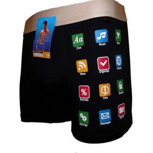 Funny Smartphone Mobile Sexy Men Boxer Shorts Pants Prank Joke Birthday Gift