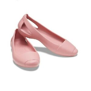 Crocs SIENNA Blossom Pink Flat Shoes Size 8 NWT