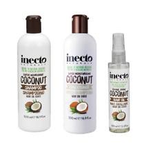 TRIO Inecto COCONUT Nourishing Shampoo,Conditioner 500ml & Hair Oil 100ml