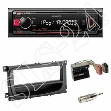 Kenwood KMM-203 USB Autoradio + Ford S-Max WA6 Blende schwarz + ISO-Adapter-Set