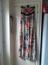 FIRETRAP Bellamy Summer Maxi Dress - Halterneck - Size XL -  14