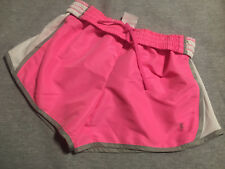 Danskin Now Women's Active Athletic Shorts neon pink white gray Size Small 4 6