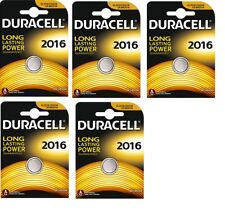 Envoi avec suivi - 5 piles Lithium CR2016, DL2016  DURACELL 3V DLC 2024