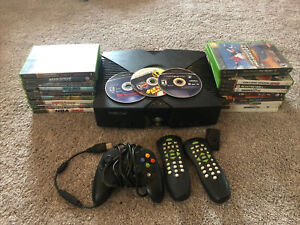 Microsoft Xbox Original Console System Bundle Untested As-Is Read 20+ Games