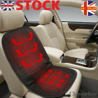 HEATED CUSHION CAR SEAT COVER UNIVERSAL FRONT ELECTRIC BLACK  ELECTRIC