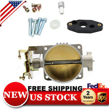 POLISHED THROTTLE BODY 75MM 75 MM FOR 96-04 FORD MUSTANG GT 4.6L SOHC DIRECT FIT