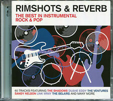 RIMSHOTS & REVERB THE BEST IN INSTRUMENTAL ROCK & POP - 2 CD BOX SET - 60 TRACKS