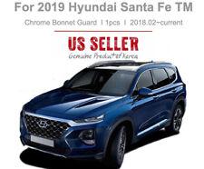 Chrome Hood Bug Shield Deflector Bug Guard 1pcs for 2019 Hyundai Santa Fe TM