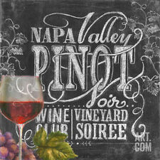Chalkboard Wine II Collections Art Poster Print by Geoff Allen, 12x12