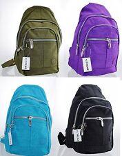 Ladies Women Crinkled Small Soft Lorenz backpack Rucksack Shoulder bag Style