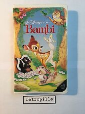 Bambi, Walt Disney, Black Diamond, Big Label, Vhs, englisch, Selten, Rare, Top