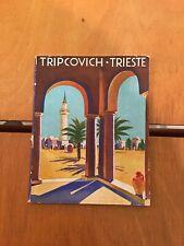 OPUSCOLO TRIPCOVICH TRIESTE1935 BROCHURE