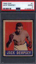 1948 Leaf #1 Jack Dempsey Boxing PSA 2 *708635