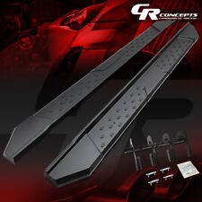 "MATTE BLACK 5.5""SIDE STEP BAR RUNNING BOARD FOR 04-08 FORD F-150 CREW CAB TRUCK"