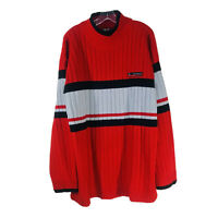 VTG Southpole Men's Sweater Pullover Long Sleeve Red Black Gray Color Block XL